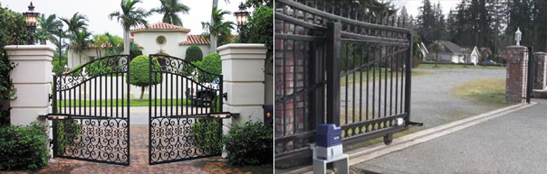 Wrought Iron Garden Driveway Security Gates And Fences