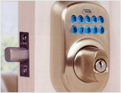 Key pad entry system in Lakewood, Houston, Texas