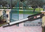 install residential, commercial single swing gates, auto swing gate opener Houston, Baytown, Texas