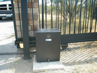 Installed gate openers and gate access control systems in for Automatic gate opener motor